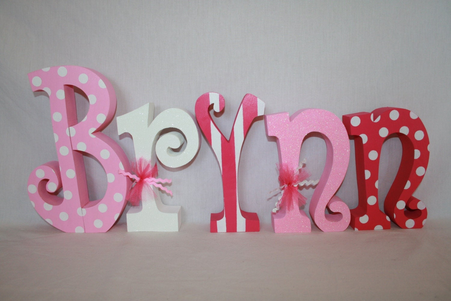 Wood letters baby name letters nursery decor for girl 5 for Baby name letters for nursery