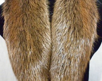 Real Beaver  fur Collar detachable new  made in usa