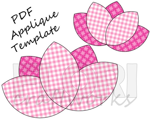Witty image for free printable flower applique patterns
