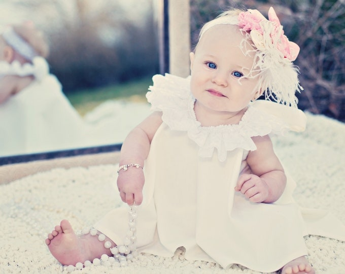 Flower Girl Dress and Ruffled Bloomers 2T-4T