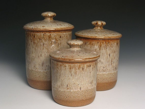 canister set stoneware kitchen canisters