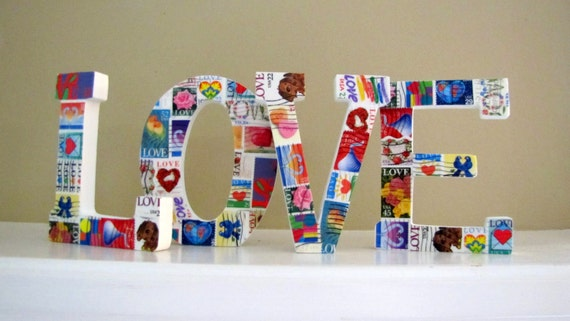 LOVE letters / LOVE stamps
