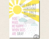 8x10 You Are My Sunshine Pink Print SALE