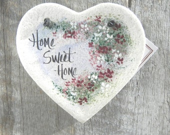 Heart Ornament / Home Sweet Home Hanging Salt Dough Ornament