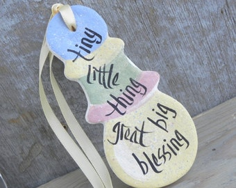 Baby Rattle Ornament / Baby Shower Party Favors Gift Attachment Salt Dough Ornament
