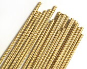 Gold Chevron Straws gold wedding straws, gold chevron striped straws gold paper straws
