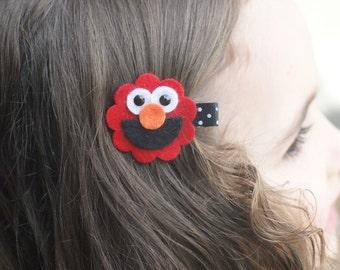 Elmo Hair Clip - Absolutely Adorable
