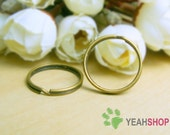 20mm Antique Brass Round Split Rings - 20 PCS (SR4)