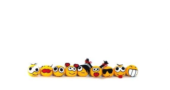 Crochet amigurumi smiley faces, crochet toy