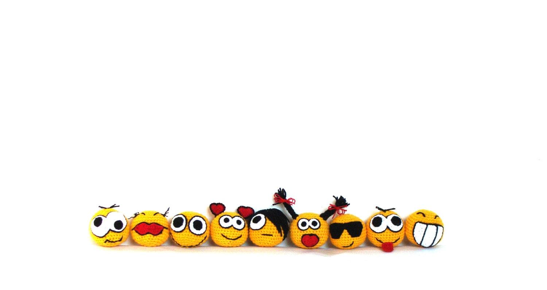 Amigurumi Smiley Ball : Crochet Amigurumi-Smiley-Gesichter Hakeln Spielzeug