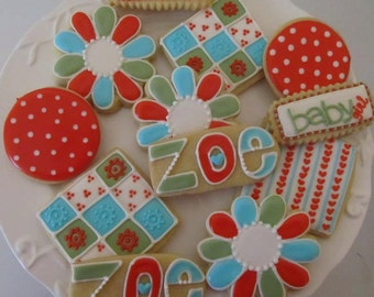 Flowerful Picnic Party Cookie Assortment 1 dozen