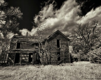 Fine Art Photography Print of an old abandon house in East Kansas