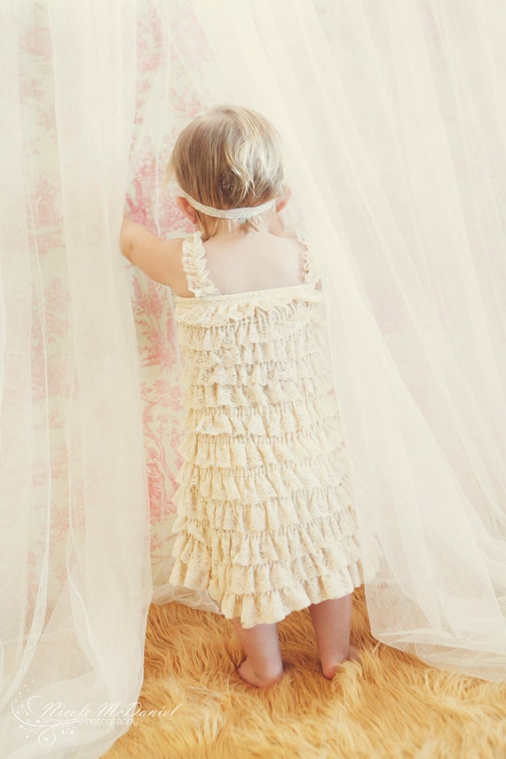 Lace Baby Dress Ivory Baby