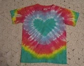 Tie dye shirt, Pastel Rainbow Heart- Valentine's Day- ALL sizes available!!- 300