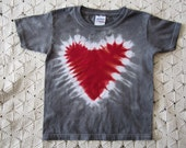 Tie dye shirt-  Infant, TODDLER or youth sizes- Valentines Day HEART, 400