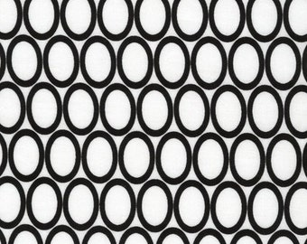 Half Yard Remix Ovals in White, Ann Kelle for Robert Kaufman Fabrics, 100% Cotton Fabric