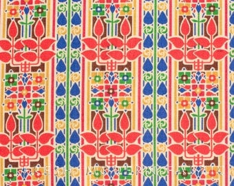 Rennie in Classic Red, Stile Collection, Liberty Lifestyle Fabrics, 100% Cotton Fabric, 03384152A