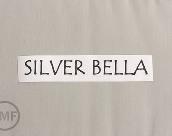 23 Inch End of Bolt Remnant Silver Bella Cotton Solid Fabric from Moda, 9900 183