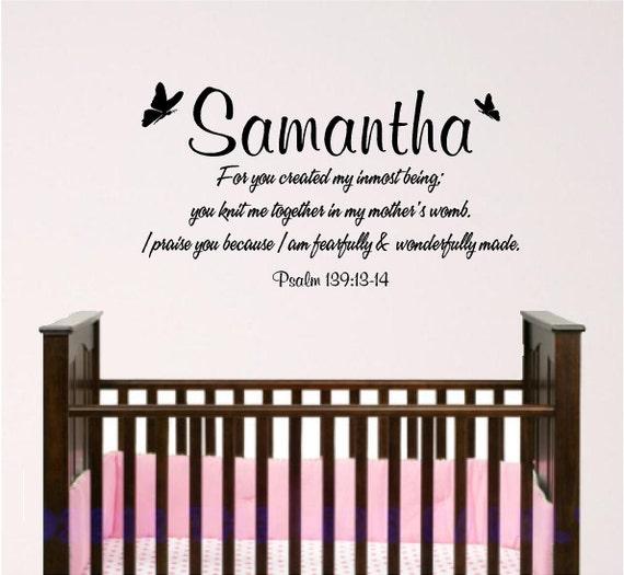 Girl nursery wall art, psalm 139