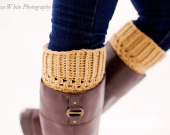 Instant Download - CROCHET PATTERN PDF - Crochet Boot Cuffs - Permission to Sell Finished Items