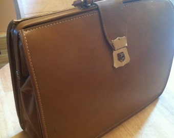 Vintage sturdex leather business case