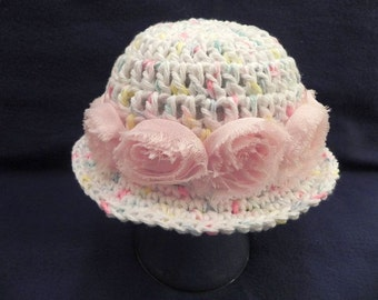 Chic Cotton Shabby Rose Hat RTS HAT