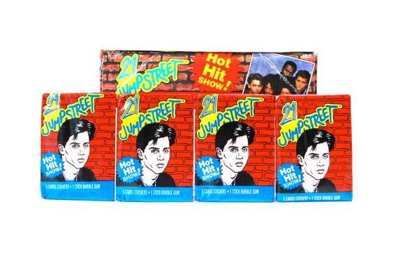 21 Jump Street Trading Cards & Sticker Packs Johnny Depp