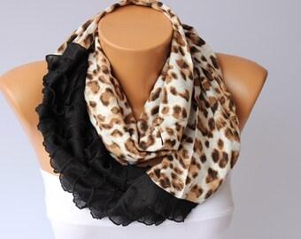 Infinity scarf,scarf,Loop scarf / neckwarmer ,woman scarf