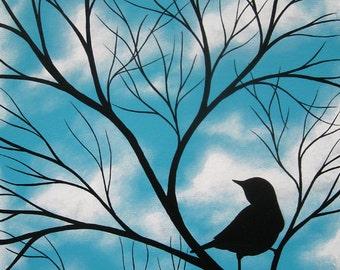 Found Bird (Giclee) 7x9
