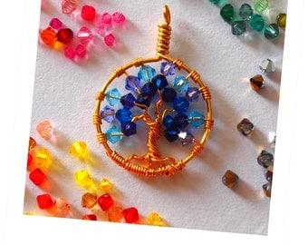 Swarovski Crystal Tree of Life Pendant