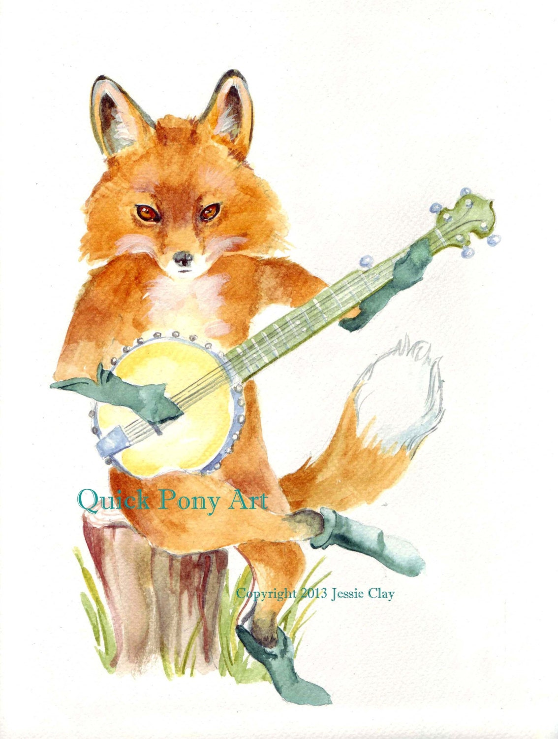 animals playing banjo - photo #3