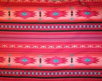 Pink Navajo Native American Tradtional Border Cotton Fabric Fat Quarter or Custom Listing