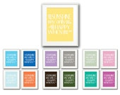 ALL COLORS Children's/Baby Nursery Rhyme Typography Art Print You Are My Sunshine