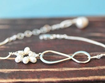 Figure Eight  Infinity Bracelet/Gift With Card/Mother's Day Gift Ideas/Sterling Silver Infinity Bracelet