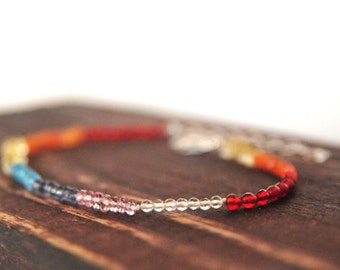 Rainbow Friendship Bracelet/Gifts for Her/Rainbow Jewelry/Rainbow Gemstone Bracelet, Friendship Gemstone Bracelets, Best Friends Gifts