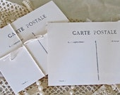 Chic Blank Postcards Set of 10 Carte Postale French Post Card