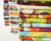 Reusable Cloth Wipes Pack of 16--My RANDOM Selection--Regular--2 Ply Flannel--Ready to Ship