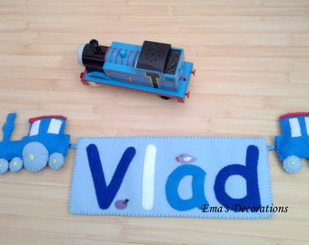 Thomas The Train Name Banner for a Boy