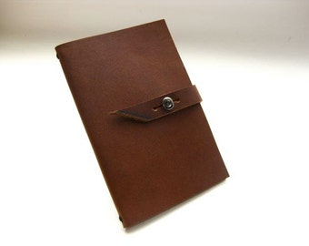 9x14 cm Leather Moleskine Notebook Cover -Build Your Own Choosing Straps & Pockets- COVER ONLY