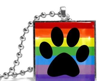Pawprint Rainbow Necklace