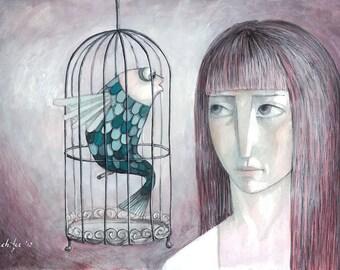 Silent Talk - Original Illustration