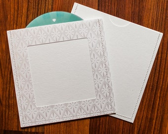 DVD Cases / Sleeves - 50 white on white sleeves with Photo Opening on front