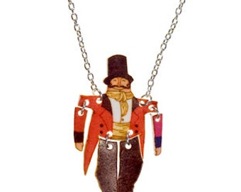 SALE Tiny Toy Necklace - 'At the Circus' Ring Master.  20% off with code VALENTINEBEAR16