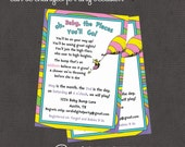 Oh the Places You Go Baby or Birthday Invitation 4x6 or 5x7 digital you print your own- Design 48