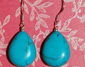Turquoise Howlite Teardrops