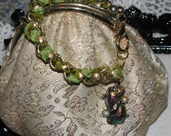 Two Hearts Ribbon Vintage Bracelet