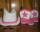 Crochet Cowgirl Or Cowboy Hat and Boots - TupeloHoneys