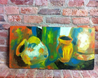 Beautiful Original Abstract Painting - Still Life Vases 2
