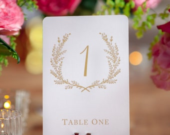 Sweet Vintage Wedding Table Number Signs 1-20 - Matte Gold