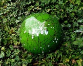 Garden Art by Anna- Garden Globe Bright Grass Green Color